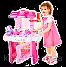 Игровая детская кухня розовая 008-26 - с подсветкой и музыкой (15 предметов), фото 3