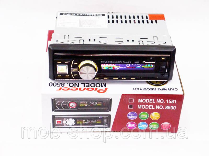 Автомагнитола пионер Pioneer 8500 RGB подсветка USB+Fm+Aux