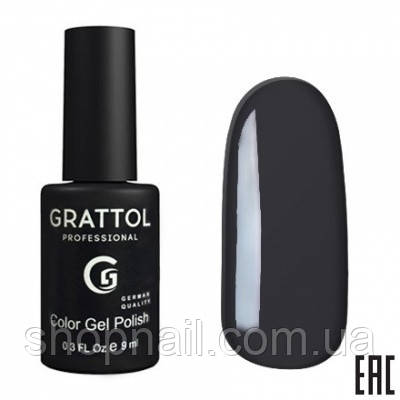 Grattol Gel Polish Dark Graphite №053, 9ml, фото 2