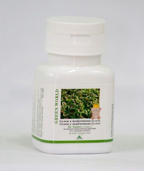 "Таблетки Селен для детей ""Green World"", 30 таблеток по 700 мг. Грин Ворлд."