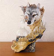 Штоф волк 37 см  ШП402 цв, фото 1