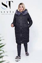 Зимнее пальто, батал, фото 2