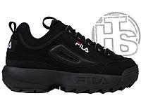 Женские кроссовки Fila Disruptor II 2 Black Winter (с мехом) FW01653-018