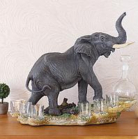 Штоф слон 44 см ШП401 цв, фото 1