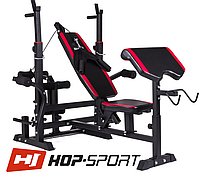 Скамья тренировочная Hop-Sport HS-1075 с партой скотта  для дома и спортзала