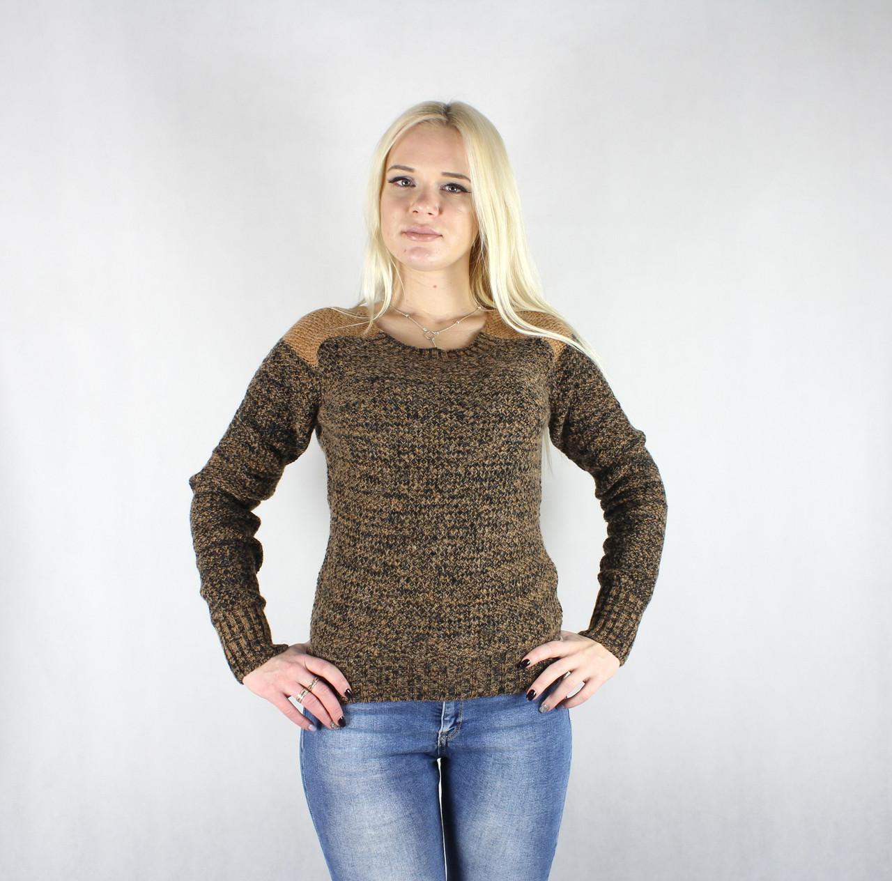 Теплый вязаный женский свитер «Pantamo Jeans» коричневого цвета
