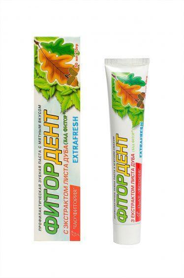 Зубная паста Фитордент «Extrafresh»: Лечебная зубная паста, Фитория, 50 мл