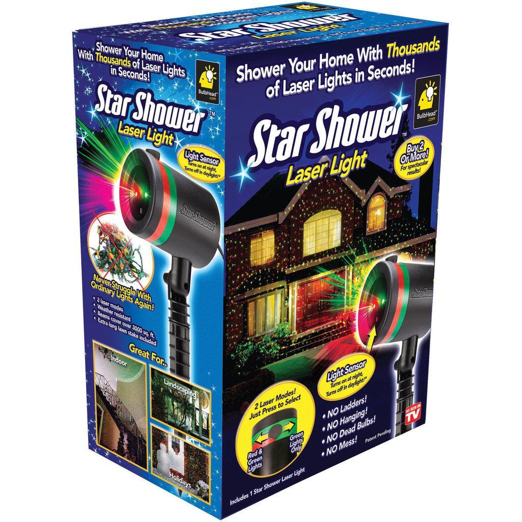 Лазерный звездный проектор Star Shower Laser Light.