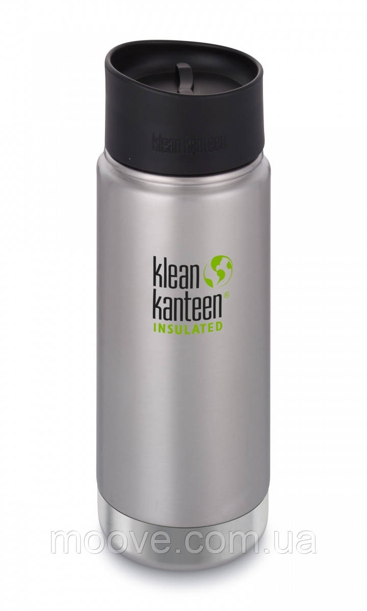 Klean Kanteen Wide Vacuum Insulated Cafe Cap 473 ml Brushed Stainless