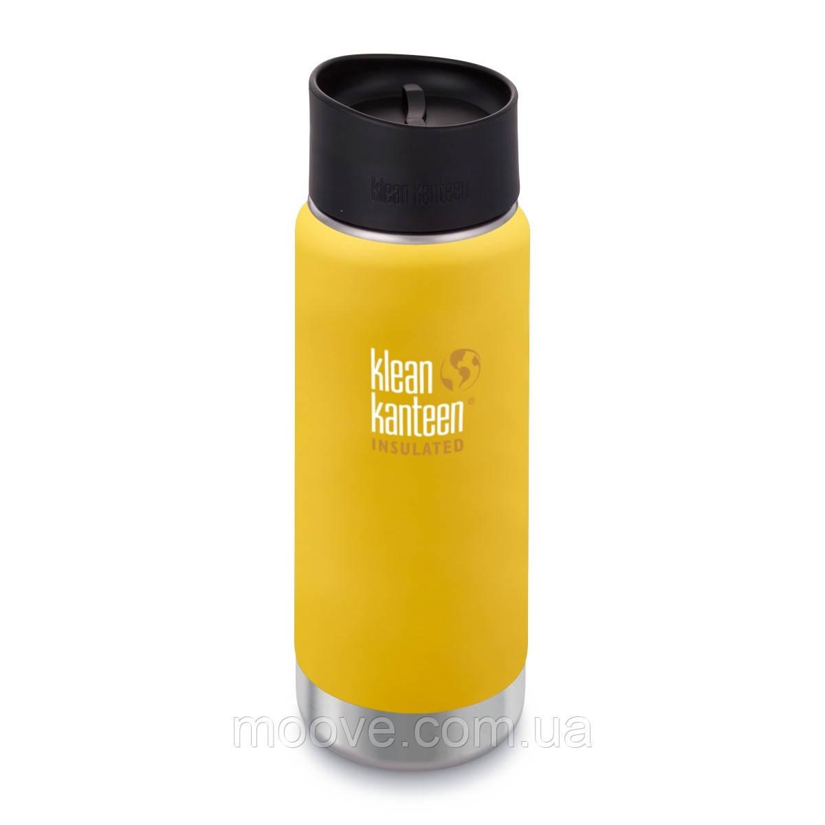 Klean Kanteen Wide Vacuum Insulated Cafe Cap 473 ml Lemon Curry matt