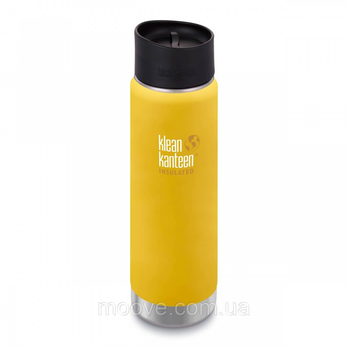 Klean Kanteen Wide Vacuum Insulated Cafe Cap 592 ml Lemon Curry matt