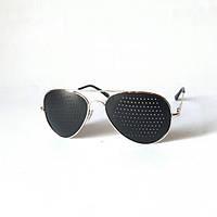 Очки-тренажёры Авиатор (правильные) для исправления зрения в золоте, Matsuda