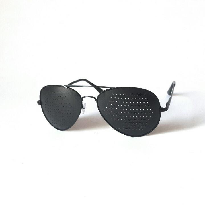 Очки-тренажёры Авиатор (правильные) для исправления зрения. B чёрном цвете, Matsuda