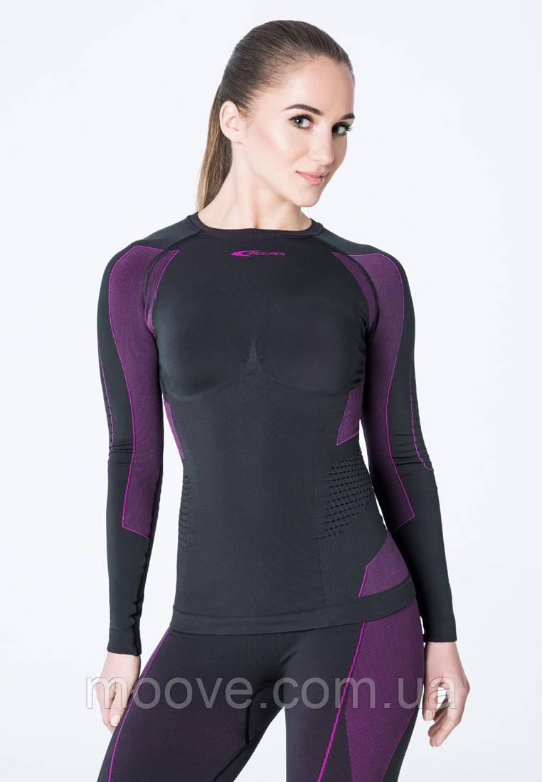 Accapi Polar Bear Long Sleeve Shirt Woman XS/S black/cyclamen