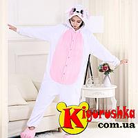 Костюм пижама Зайка белый с розовым (пастель) кигуруми для взрослых d5015684c42d2