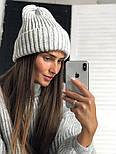 Женская шапка объемной вязки (4 цвета), фото 3