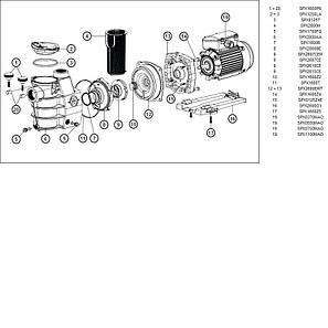 Насос Hayward PL Plus 81030 (220В, 8,6 м³/час, 0.5HP), для бассейнов объёмом до 34,4 м3, фото 2
