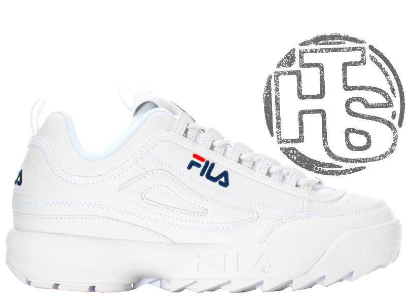 5c9d42ca746c Женские кроссовки Fila Disruptor II 2 Leather White Winter (с мехом)  FW01655-111