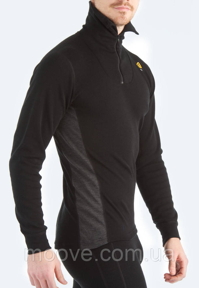 Aclima WarmWool Polo W/Zip Man S black