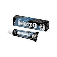 Refectocil Краска для бровей и ресниц 15мл, черная, иссиня-черная, коричневая, графит № 2 Черно-синяя