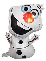 Фольгированный шар Снеговик Олаф (Мультфильм Холодное сердце) 70см
