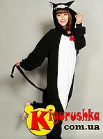Костюм пижама Чёрный кот кигуруми