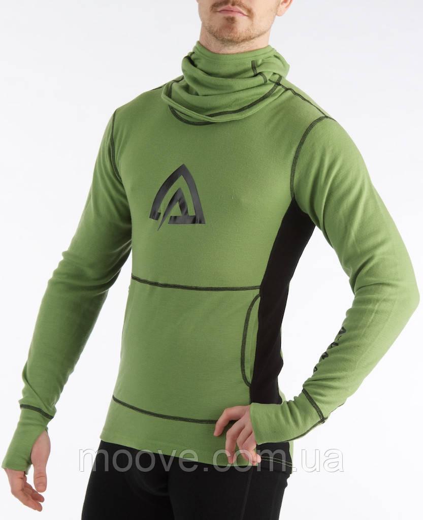 Aclima WarmWool Hood Sweater Man L forestgreen/black