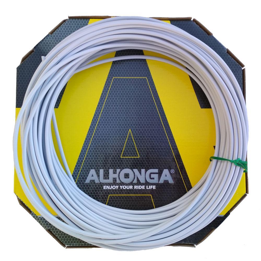 Рубашка Alhonga 4 mm., троса переключения белая, 1 м.