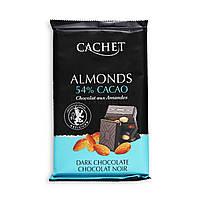 Темный бельгийский шоколад Cachet with Almonds 54 % Cacao - с миндалем 300g