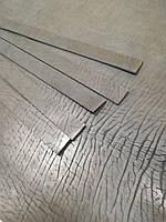 Кожаная фактурная ременная полоса, чёрный цвет 4см