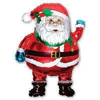 Мини Фольгированный шар Дед Мороз 35 см