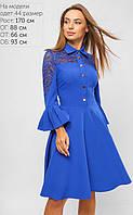 Женское расклешенное платье с гипюром (3279 lp)