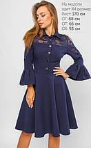 Женское расклешенное платье с гипюром (3279 lp), фото 3