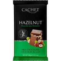 Молочный бельгийский шоколад Cachet Huzelnut Milk Chocolate- с целым лесным орехом 300g