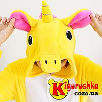 Кигуруми Радужный Единорог -Жёлтый