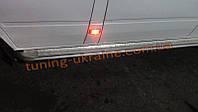 Пороги боковые подножки площадки цвет молотковый на Mercedes Sprinter 2000-2006 средняя база