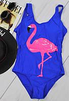 Женский слитный купальник фламинго (подростковый)