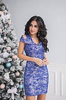 Платье нарядное с напылением в расцветках 26038, фото 1