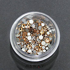 KATTi Стразы стекло в баночке Тон 103 champagne ss3-ss10 140шт, фото 3