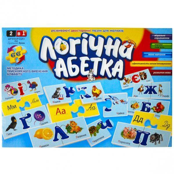 Развивающие пазлы «Логическая Абетка» , украинский язык
