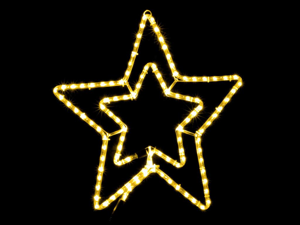Гірлянда зірка вуличної установки DELUX MOTIF Star 54см жовтий IP44 EN