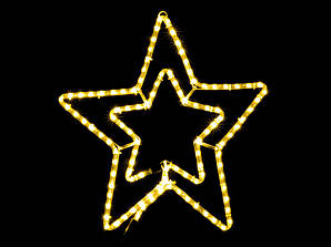 Гирлянда звезда уличной установки DELUX MOTIF Star 54см желтый IP44 EN