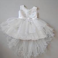 """Детское нарядное белое платье для девочки 3-5 лет """"Метелица"""""""