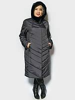 Женское зимнее пальто большого размера с 58 по 66