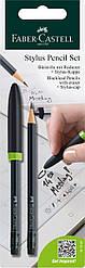 Карандаш чернографитный Faber-Castell  Stylus pencil set с колпачком - стилусом, 187597
