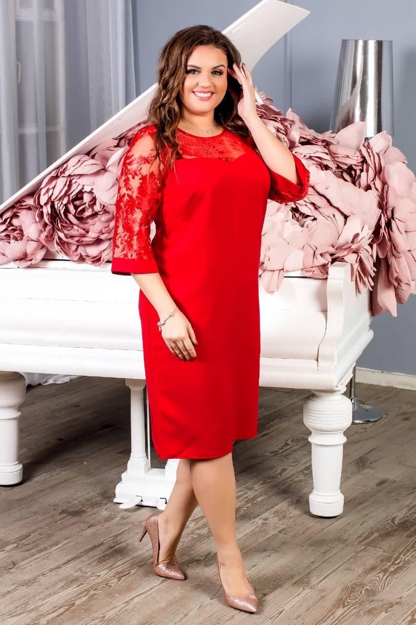 Нарядное платье, артикул 132, цвет красный