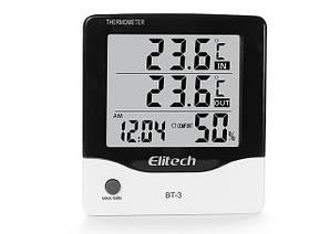 Цифровий термо-гігрометр ВТ-3 (0-50 С; 20%...99%) з термопарою 1.5 м (-50...+70°C) Elitech (mdr_2117)