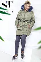 Зимняя куртка на меху, батал, фото 3