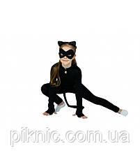 Детский костюм Супер Кошка для девочек 3-7 лет Карнавальный костюм Супер герои в масках Багира Пантера 343, фото 2