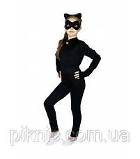 Детский костюм Супер Кошка для девочек 3-7 лет Карнавальный костюм Супер герои в масках Багира Пантера 343, фото 3